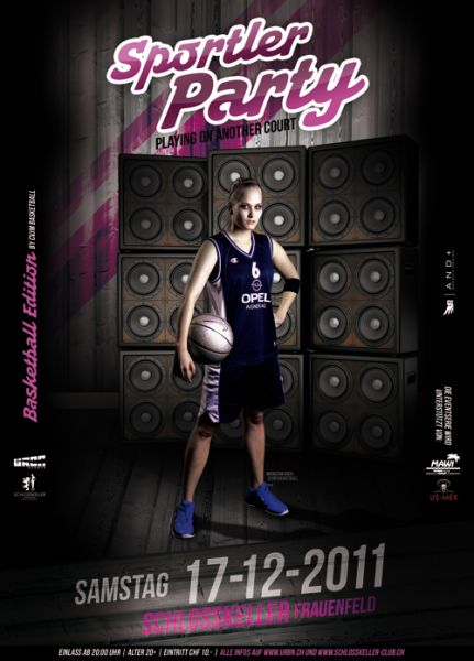 sportler party basketball  schlosskeller frauenfeld party
