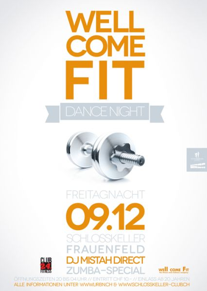 well come fit wellcomefit dance night party  schlosskeller frauenfeld